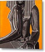 Front And Side Egyptian Pharoah Metal Print