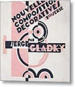 Front Cover Of Nouvelles Compositions Decoratives Metal Print by Serge Gladky