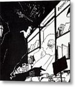 Front Cover Of The Prospectus For The Yellow Book Metal Print by Aubrey Beardsley
