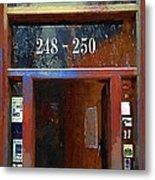 Front Door At The Cafe Nine Metal Print