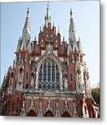 Front Entrance To St Joseph Church Krakow Metal Print