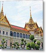 Front Of Reception Hall At Grand Palace Of Thailand In Bangkok Metal Print