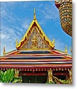 Front Of Royal Temple At Grand Palace Of Thailand In Bangkok Metal Print