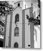 front of the church in Los Banquitos Tenerife Canary Islands Spain Metal Print