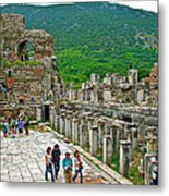 Front Of Theater In Ephesus-turkey Metal Print