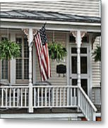 Front Porch Flag Metal Print