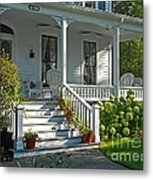 Front Porch In Summer Metal Print