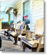 Front Porch On An Old Country House 2 Metal Print