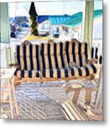 Front Porch On An Old Country House  3 Metal Print