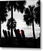 Front Row For Sunset Metal Print