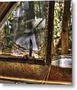 Front Side Window Antique Car Metal Print