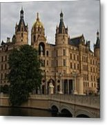 Front View Of Palace Schwerin Metal Print