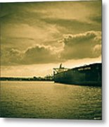 Frontier Ambition Ship Metal Print