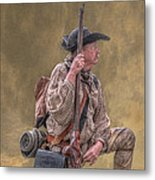 Frontiersman Golden Morning Metal Print by Randy Steele