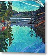 Frood Lake Outlet Metal Print