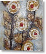 Frosen Roses Metal Print by Elena  Constantinescu