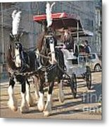 Frost Fair Horses Hastings Metal Print