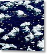 Frost Flakes On Ice - 05 Metal Print