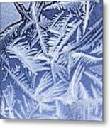 Frost In Blue Metal Print