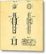 Frost Kazoo Patent Art 1883 Metal Print