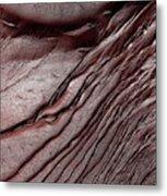 Frost On Martian Dunes Metal Print