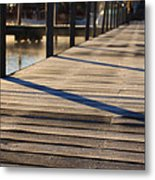 Frost On The Docks Metal Print