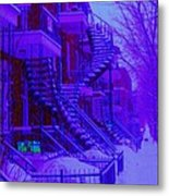Frost On  Winding Staircases Metal Print