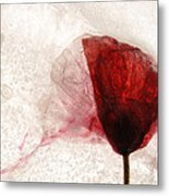 Frosted Poppy Metal Print
