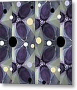 Frosted Purple Flower Metal Print