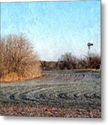 Frosted Wheat Metal Print
