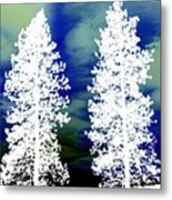 Frosty Giants Metal Print