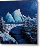 Frosty Night In The Mountains Metal Print