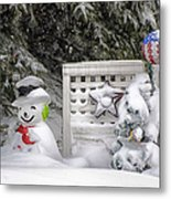 Frosty The Snow Man Metal Print