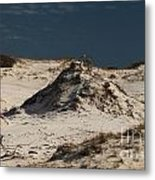 Frosty White Dunes Metal Print by Adam Jewell