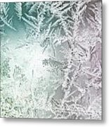 Frosty Windowpane Metal Print