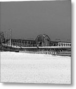 Frozen Bay Bridge Metal Print