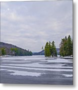 Frozen Bear Creek Lake Metal Print
