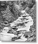 Frozen Boulder Creek Boulder Canyon Colorado Bw Metal Print