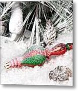 Frozen Christmas Ornament Metal Print