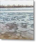 Frozen Dnieper River Metal Print