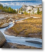 Frozen Enchantments Creek Metal Print