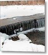 Frozen Falls At Pine Creek Metal Print