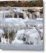 Frozen Falls Metal Print