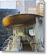 Frozen Fountain Metal Print by Maritza Melendez