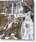 Frozen Falls From The Bridge Metal Print