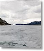 Frozen Lake Laberge Yukon Canada Metal Print