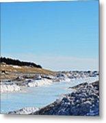 Frozen Lake Michigan Metal Print