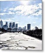 Frozen Philadelphia Cityscape Metal Print