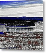Frozen Pond Digital Painting Metal Print