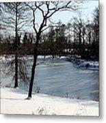 Frozen Pond2 Metal Print